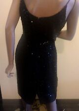 Vintage 50's 60's Sequin Beaded Wiggle Bombshell  Cocktail Dress Size S