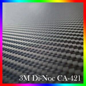 """3M Original Di-Noc CA421 Black Carbon Fiber Vinyl Film 30x50 cm -11.81"""" x 19.69"""""""