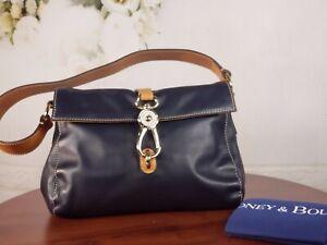 Dooney & Bourke - Smooth Leather Libby Hobo Handbag Logo Lock - Midnight Blue