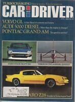 Car And Driver Magazine Volvo GL & Audi 5000 Diesel April 1980 , Z28 CAMARO