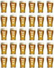 30 x Personalised Beer Glass Edible Cupcake / Fairy Cake Wafer Paper Toppers