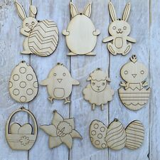 Plywood Laser Cut decorate your own Wooden Easter Tree Decorations