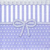 4x Single Table Party Paper Napkins for Decoupage Decopatch Vintage Bow Lavender
