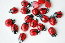 Art & Craft Supplies 70pcs Tibetan Silver Mini Ladybug Spacer Beads R152