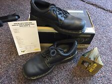 Dr Martens 9369 Black 4 Eye Padded Collar Shoe Z Welt Sly Sole Mens 9 Ladies
