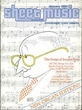 Sheet Music Magazine Jan 1980 Easy Organ Edition Jerome Kern Registration Scales