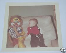 WOW Vintage 1970's Halloween Photo Photograph Boo Boo Clown Cute Baby Cowboy