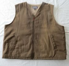 WOOLRICH Mens Duck Brown Bark Sherpa lined zip vest 2XL