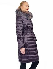 ~ Down Coat Parka w/ Crystal Fox Real Fur sz XL / US 12  EU 44 $895 Пуховик Лиса