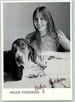 10220356 - Helga Feddersen - Autogramm -  Theaterschauspieler