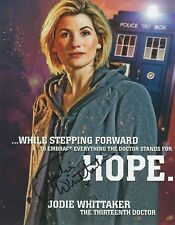Jodie Whittaker Signed DR WHO 10x8 Photo AFTAL OnlineCOA (h)