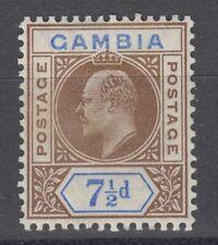 1909-GAMBIA-7 1/2 D.-VAR./DENTED FRAME-SG#79A-MLHOG*