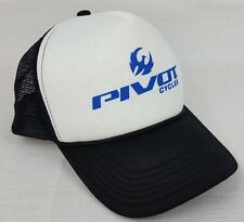 Pivot Bicycles Mesh Backed Trucker Hat Black/White/Blue Mach Mountain Bikes MTB