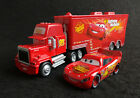 Disney Pixar Cars No.95 Rust-eze Lightning McQueen & Mack Hauler Truck Lot of 2