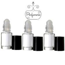 Clear Glass Roll-on Perfume Aromatherapy Mini Bottles 5ml 1/6oz Roller ball 48pk