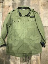 9d73bfd0712 Zara Khaki Green Aztec Trim Back Printed Shirt Jacket Size S New