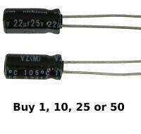 Nichicon 4.7uF 25V 10/% series UKB electrolytic capacitors FREE SHIPPING