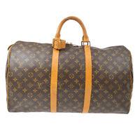 LOUIS VUITTON KEEPALL 50 TRAVEL HAND BAG VI874 PURSE MONOGRAM M41426 AUTH 90415