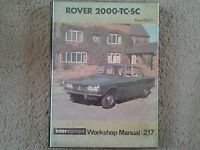 Rover 2000-TC-SC from 1963 Intereurope Workshop Manual 217