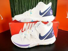 Nike Kyrie 5 Have a Nike Day Mens Shoes White Blue Denim AO2918-101 Size 10-12