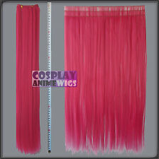 Hot Rose Pink Hair Weft Extention (3 pieces) - 60cm High Temp - Cosplay 7_HRP