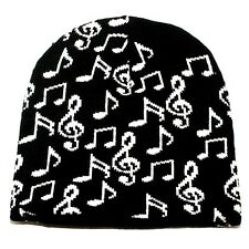 Punk Rock Winter Ski Snowboarding Hat Cap ~ Black White Music Beanie ( QTY 2 )