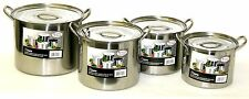 Stainless Steel Stockpot Pot Set 6/8/11/15 QT Quart Beer Brewing Soup Chili NEW!
