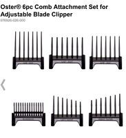OSTER 6 PC GUIDE SET FITS 974, 284, 650, 820, CLIPPERS UPC, 034264409828