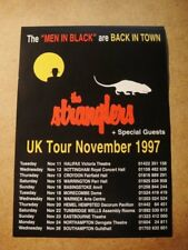 THE STRANGLERS - A5 1997 VINTAGE FLYER - FROM UK TOUR  NOVEMBER 1997