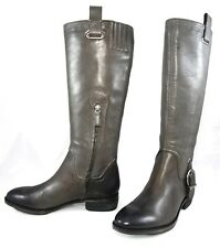 ARTURO CHIANG EZURE Soft Pull On Tall Buckled Riding Flat Boots Womens Shoes 6.5
