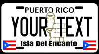 "Puerto Rico Custom Name PR Personalize 6""x12"" Aluminum License Plate Tag"