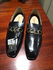 Massimo Dutti Italian  Black Leather Ladies shoes Size 9