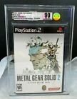 PS2 Playstation 2 Konami Metal Gear Solid 2 Brand New Sealed VGA 90 Gold Mint