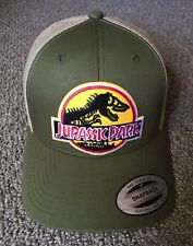 NEW! Jurassic Park Hat Trucker Style SnapBack Cap with Embroidered Patch