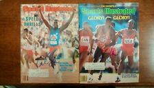 Carl Lewis Signed Autograph Sports Illustrated 1984 x 2