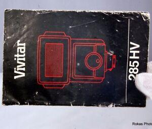 Vivitar Flashlight 285 HV Manual Guide (EN)