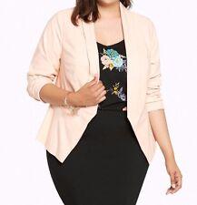 Torrid Cut Away Fit Blazer Blush Pink 00X Med Large 10 00 #2578
