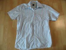 ESPRIT collection chices Kurzarmhemd weiß hellblau Gr. S NEUw.  MS1215