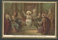 New listing Holy card antique Jesus entre los doctores image pieuse santino andachtsbild
