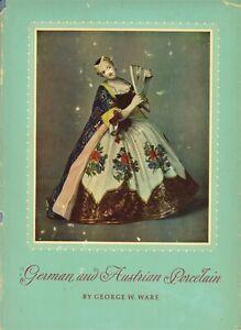 Antique German Meissen Austrian Porcelain - History Types Marks / Scarce Book