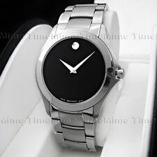 Men's Movado MASINO MILITARY Black Dial Stainless Swiss Quartz Watch 0605869