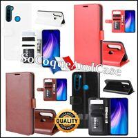 Etui housse coque Crazy Horse Cuir PU Leather Flip Case Xiaomi Redmi Note 8, 8T