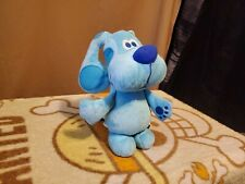 "2011 Mattel Fisher Price Blues Clues Approx 11"" Talking Blue Puppy Dog Plush"