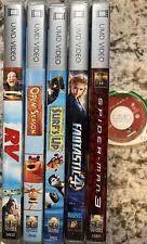 Lot of 6 PSP UMD Movies - Fantastic 4 Spider Man 2&3 Open Season Portable Movies