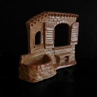 Sculpture vide-poche terre cuite faïence fait main CORBO made in ITALY N3206