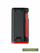 Colibri Monza 3 Black and RED Triple Jet Flame Cigar Lighter Luxury Boxed