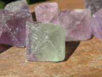 5 x Fluorite Octahedrons Crystals Rough and Raw - Omni New Age