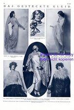 Le permis de robe 1925 XL S. fotoabb. Mode 20er Ans Maria MINZENTI SCHERL