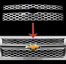 2014-15 Chevy Silverado 1500 CHROME Snap On Grille Overlay Grill Inserts Covers
