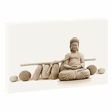 Buddha sepia  Bild auf Leinwand Keilrahmen Feng Shui Poster XXL 120 cm*80 cm 103